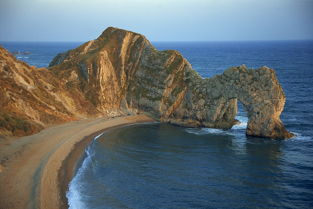 Purbeck limestone arch, Durdle Door, near Lulworth, Dorset coast, England, United Kingdom, Europe