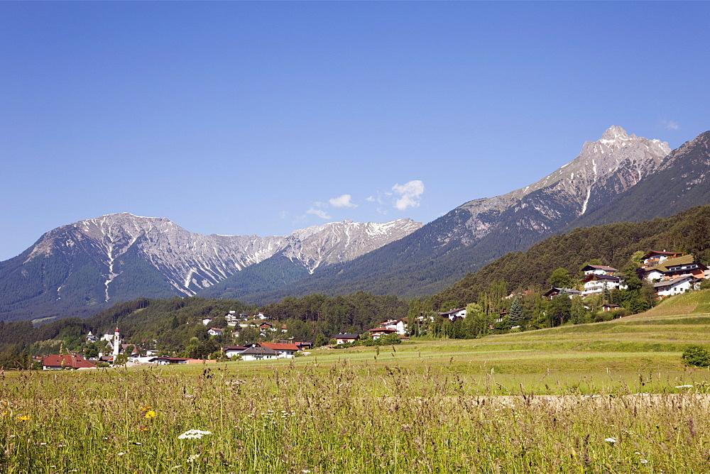 Alps and Gurgl valley in summer, Tarrenz, Tyrol, Austria, Europe - 586-1481