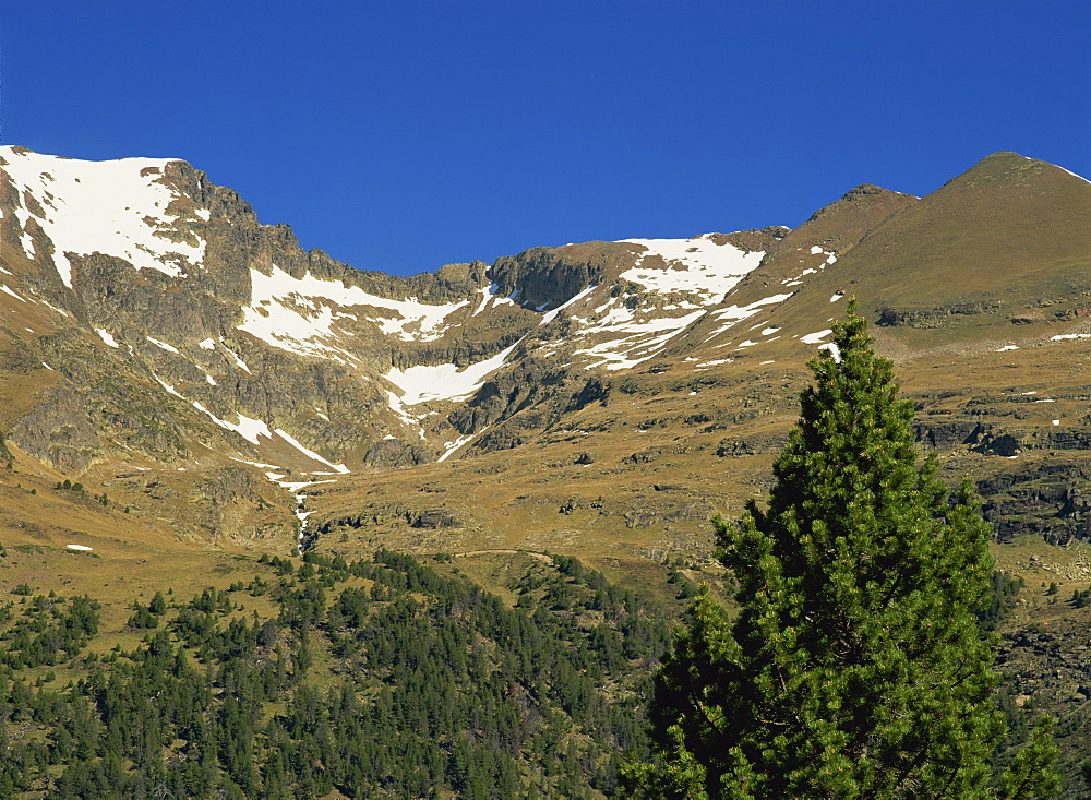 Pyrenees mountain range in Andorra, Europe