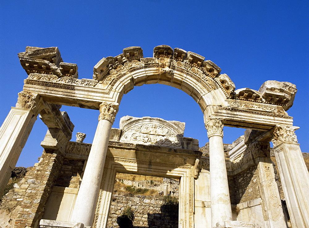 Hadrian's Temple, dating from around 150AD, Ephesus, Anatolia, Turkey, Asia Minor, Eurasia