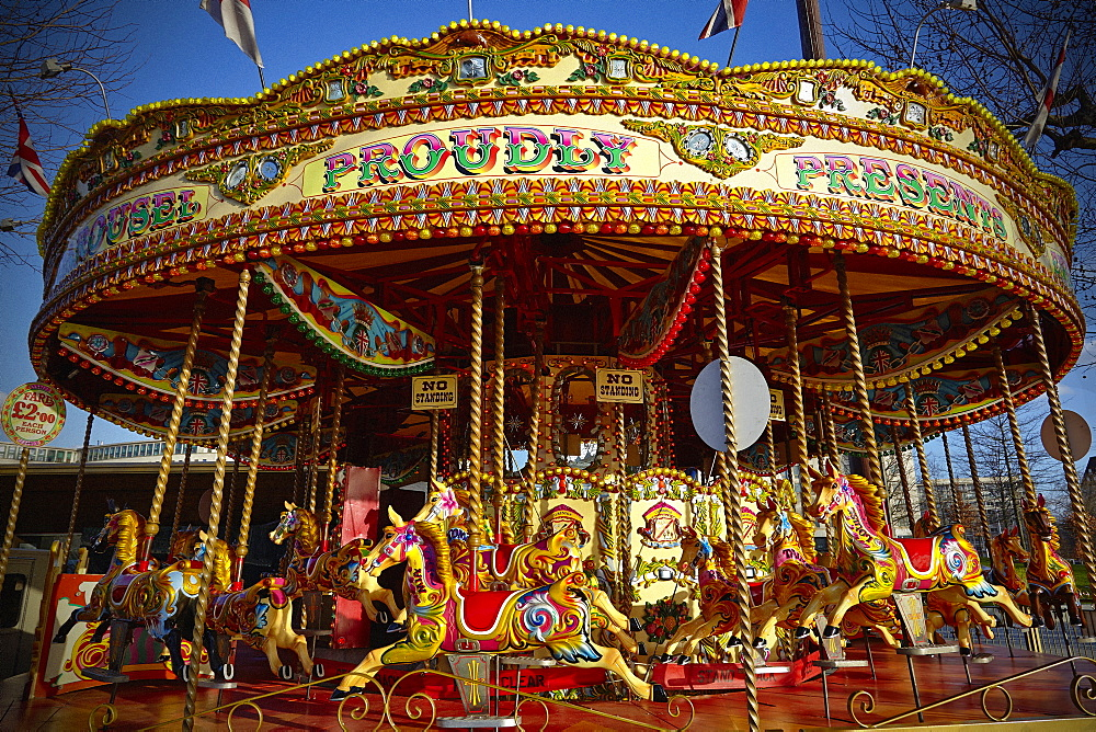 Carousel, Southbank, London, England, United Kingdom, Europe - 627-1256