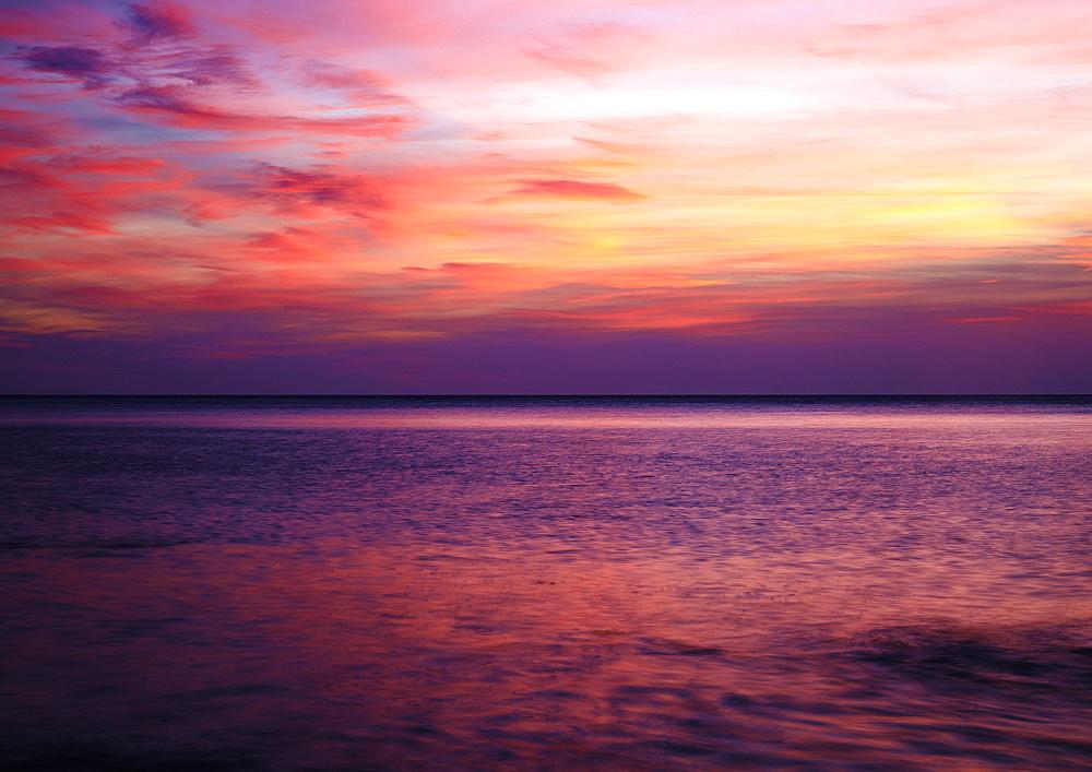 Sunrise on the Mediterrannean sea, Collioure, Languedoc-Roussillon, France, Mediterranean, Europe - 627-1279