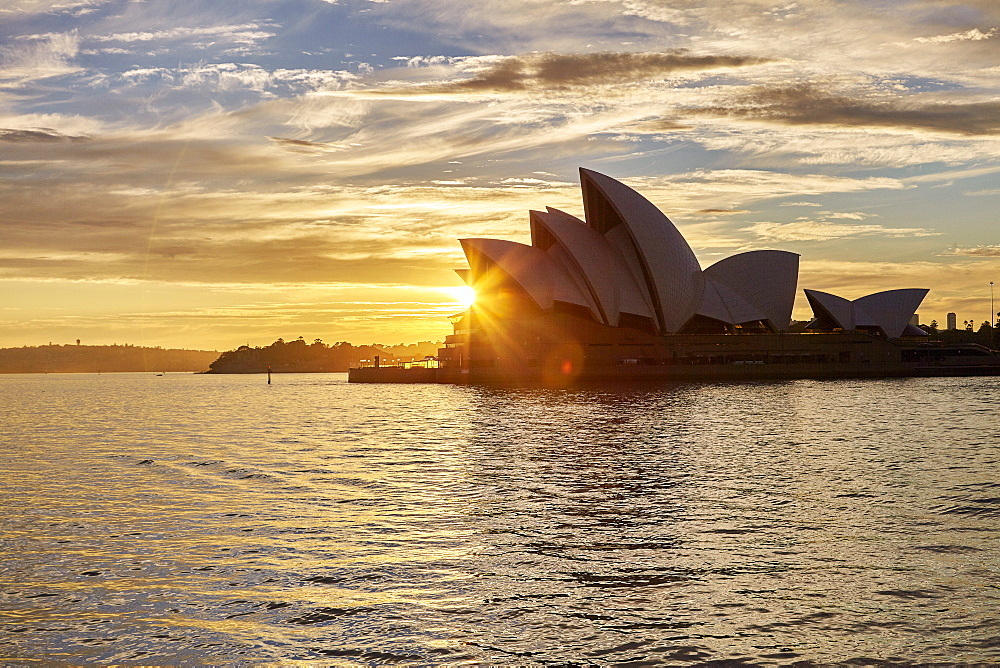 Sydney Opera House, UNESCO World Heritage Site, at sunrise, Sydney, New South Wales, Australia, Pacific - 627-1304