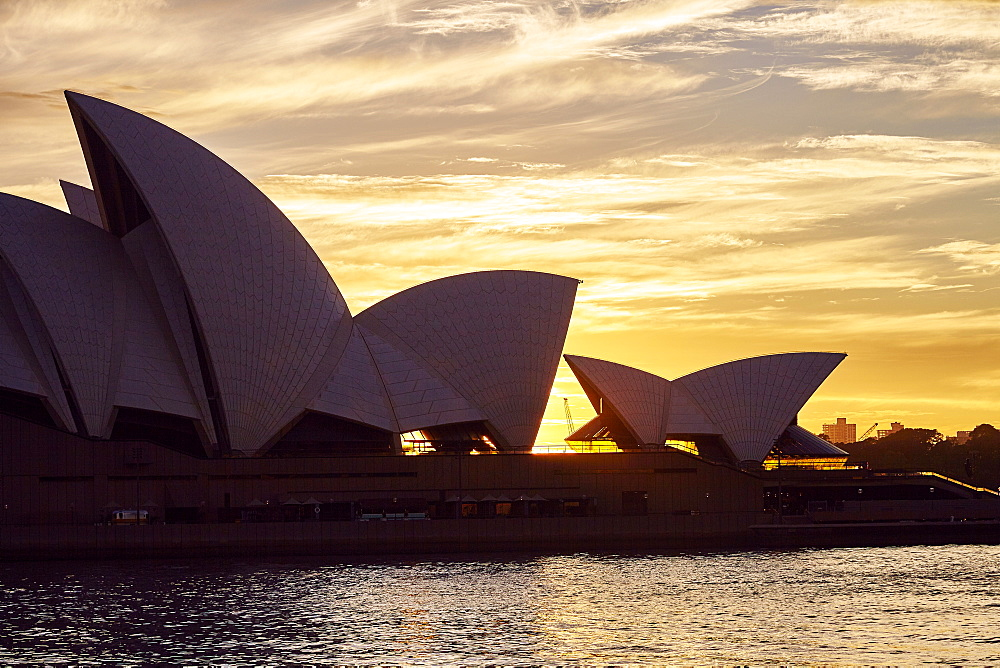 Sydney Opera House, UNESCO World Heritage Site, at sunrise, Sydney, New South Wales, Australia, Pacific