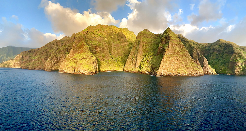 Coastline, Fatu Hiva, Marquesas, French Polynesia, South Pacific, Pacific - 632-5626