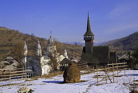 Churches in Maramuresh (Maramures), Romania, Europe