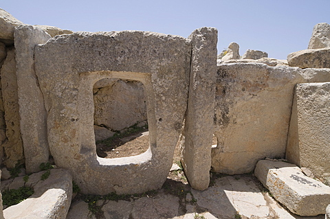 Hagar Qim, a megalithic temple, UNESCO World Heritage Site, Malta, Europe