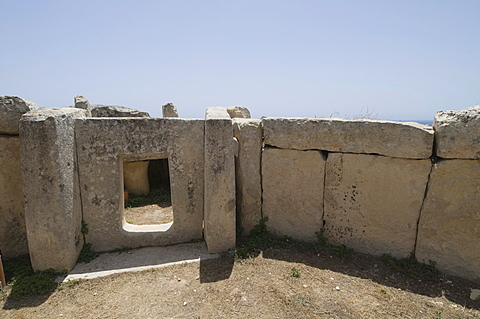 Mnajdra, a Megalithic temple constructed at the end of the third millennium BC, UNESCO World Heritage Site, Malta, Europe