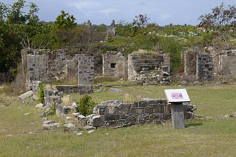 Betty's Hope Sugar mill, Antigua, Leeward Islands, West Indies, Caribbean, Central America