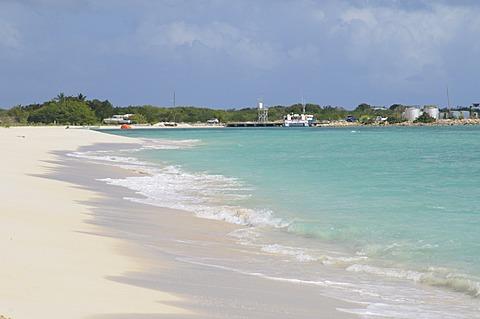 Wonderful sandy beach, Barbuda, Antigua and Barbuda, Leeward Islands, West Indies, Caribbean, Central America