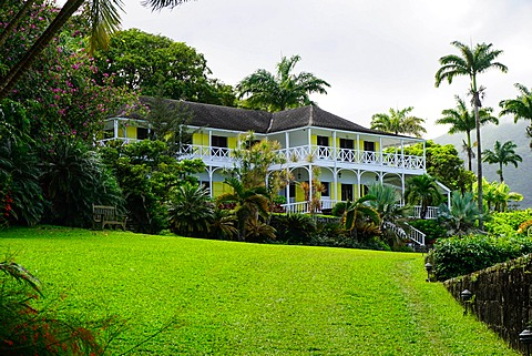 Ottleys Plantation Inn, St. Kitts, St. Kitts and Nevis, Leeward Islands, West Indies, Caribbean, Central America