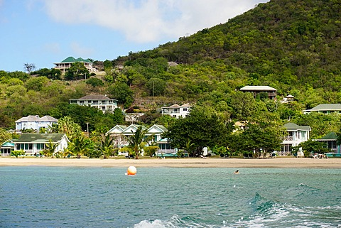 Oualie Beach Hotel, Nevis, St. Kitts and Nevis, Leeward Islands, West Indies, Caribbean, Central America