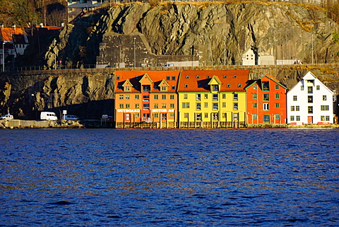 Houses on the harbour Bergen, Hordaland, Norway, Scandinavia, Europe