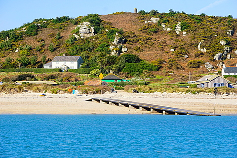 The Bar Quay on Bryher, Isles of Scilly, England, United Kingdom, Europe - 641-13385