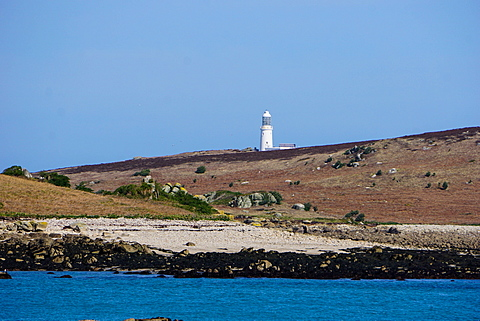 Lighthouse, Isles of Scilly, England, United Kingdom, Europe
