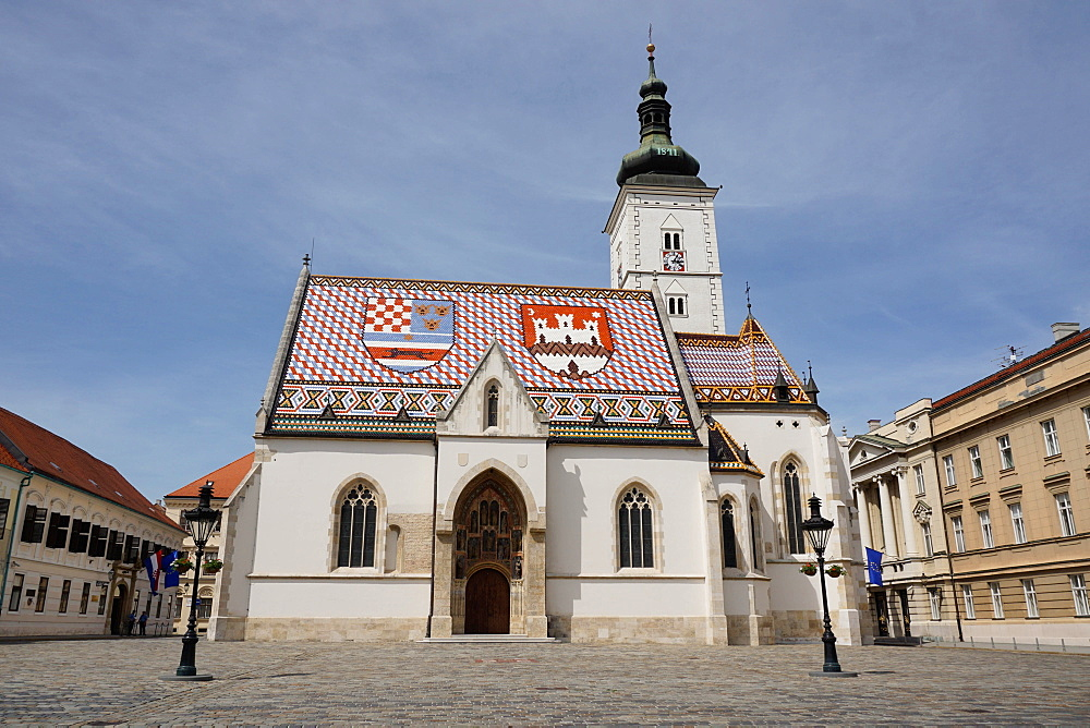 St. Mark's church on the Market Square, Government Quarter, Upper Town, Zagreb, Croatia, Europe - 641-13430