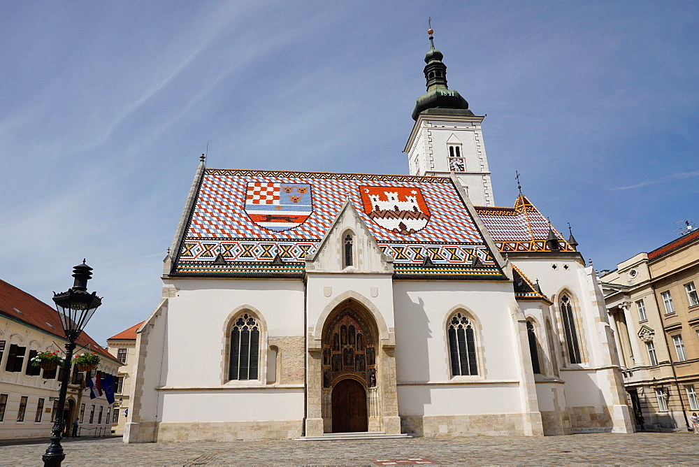 St. Mark's church on the Market Square, Government Quarter, Upper Town, Zagreb, Croatia