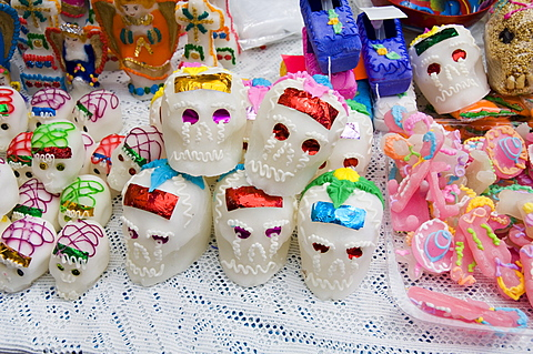Day of the Dead sweets, in the market, Zaachila, Oaxaca, Mexico, North America - 641-7079