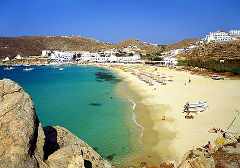 Beach, Plati Yialos, Mykonos, Greece - 645-2385