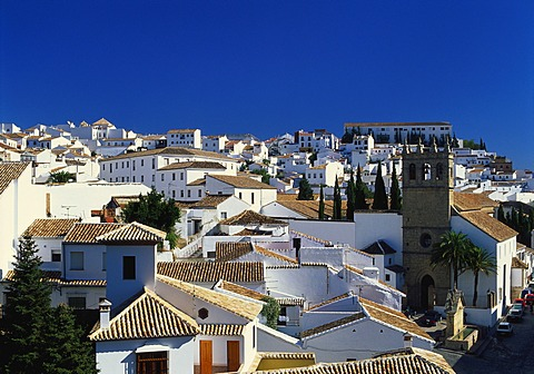 Rooftop View of the Village of Ronda, Malaga, Andalucia, Spain - 645-3824