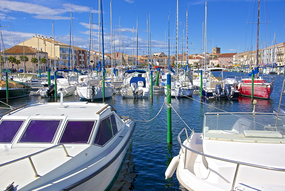 Boats in marina, Meze, Herault, Languedoc Roussillon region, France, Europe - 665-5430