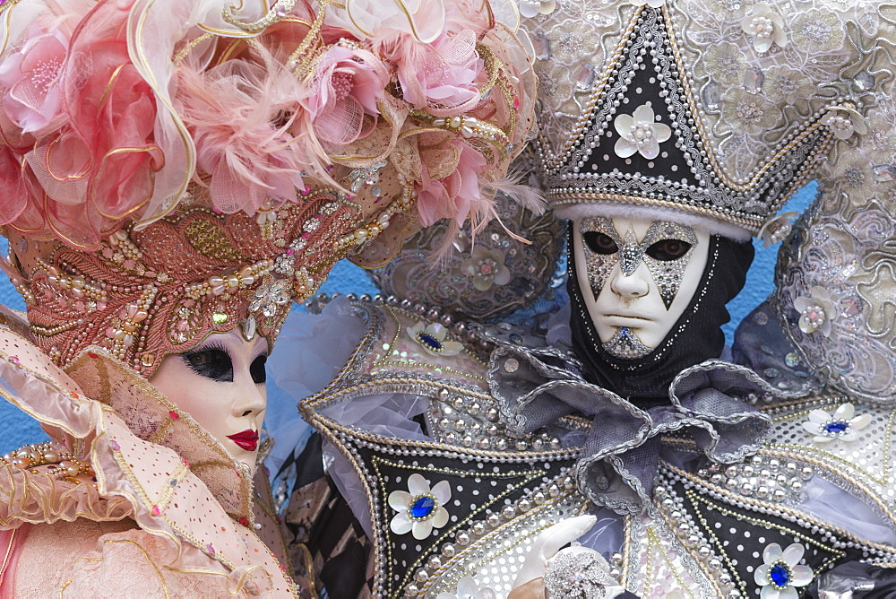 Masks and costumes, Carnival, Venice, Veneto, Italy, Europe - 667-2586
