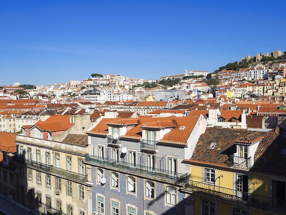 Sao Jorge Castle and city view, Lisbon, Portugal, Europe - 667-2612