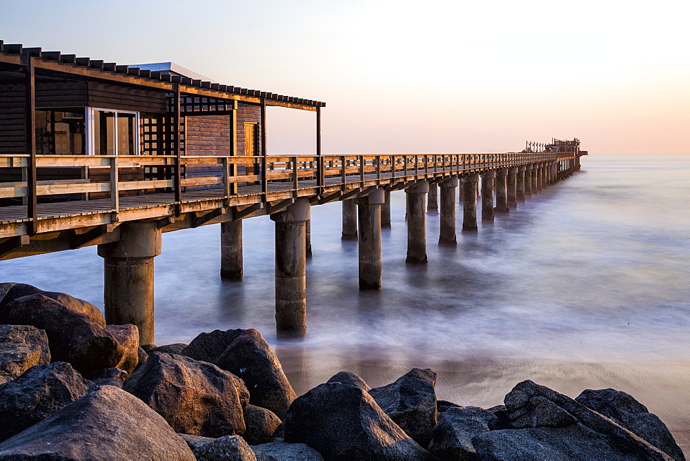 The Pier at sunset, Swakopmund, Namibia, Africa - 667-2663