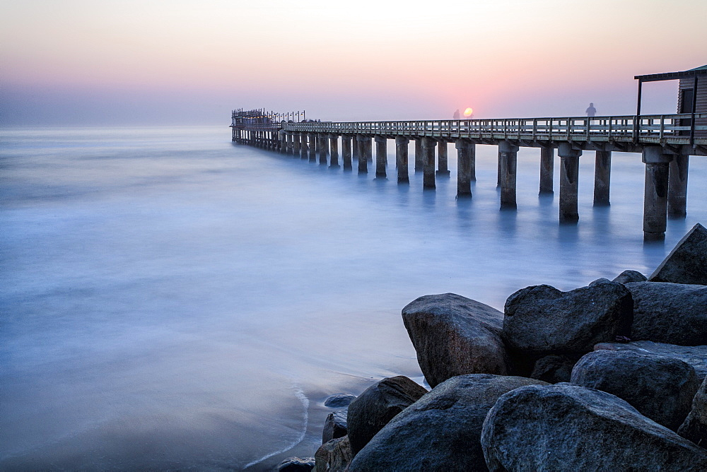 The Pier at sunset, Swakopmund, Namibia, Africa - 667-2664