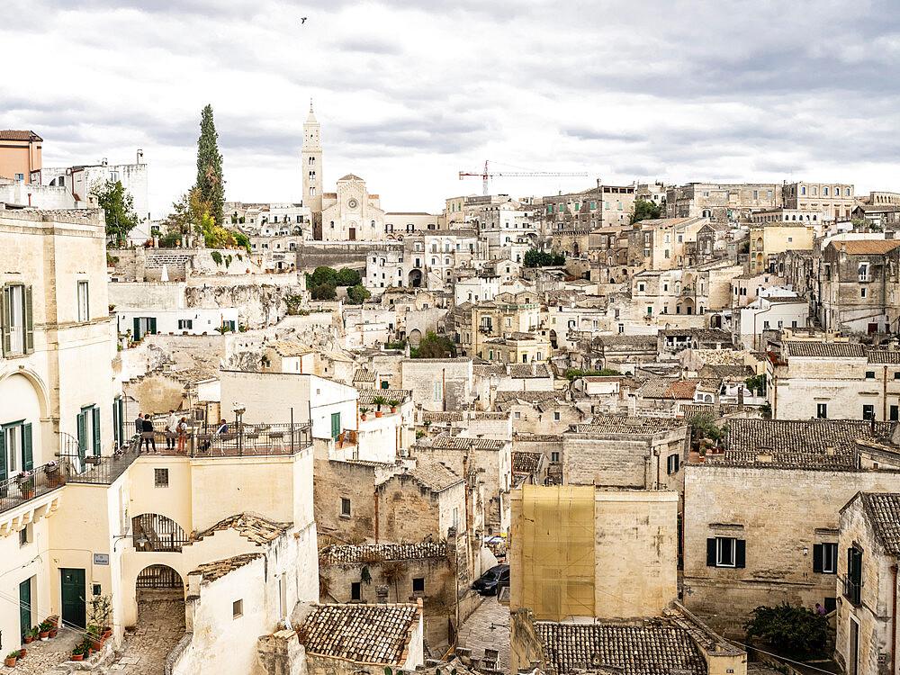 View of the Old Town, Matera, Basilicata, Puglia, Italy, Europe - 667-2688