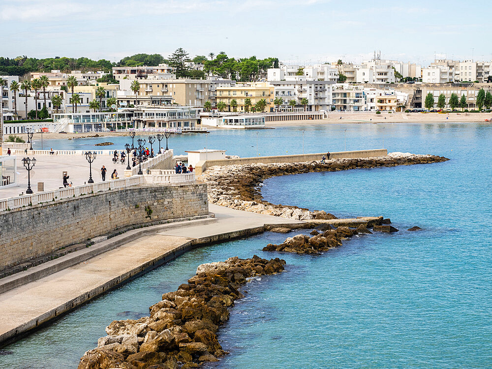 The harbour, Otranto, Apulia, Puglia, Italy, Europe - 667-2689