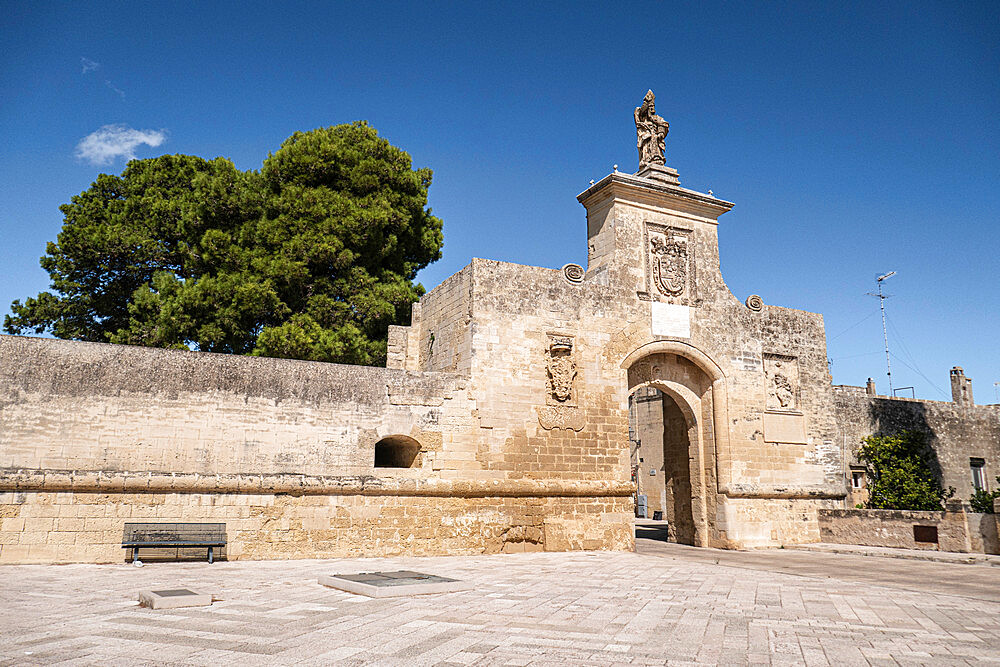 Gate of St. Oronzo, Acaya, Salento, Puglia, Italy, Europe - 667-2696