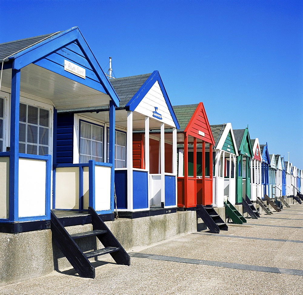 Beach huts, Southwold, Suffolk, England, United Kingdom, Europe
