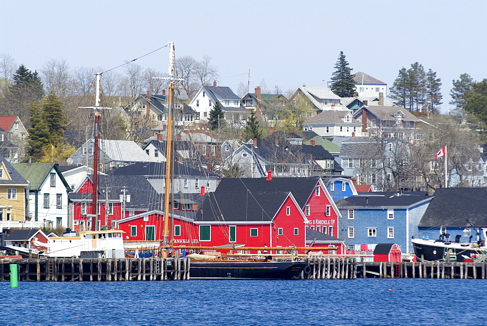 Town view, Lunenburg, UNESCO World Heritage Site, Nova Scotia, Canada, North America