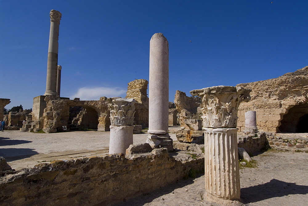 Antonine Baths, Roman ruins of Carthage, UNESCO World Heritage Site, near Tunis, Tunisia, North Africa, Africa
