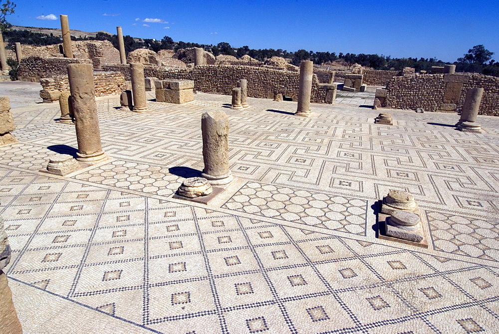 Large Baths, Roman ruin of Sbeitla, Tunisia, North Africa, Africa