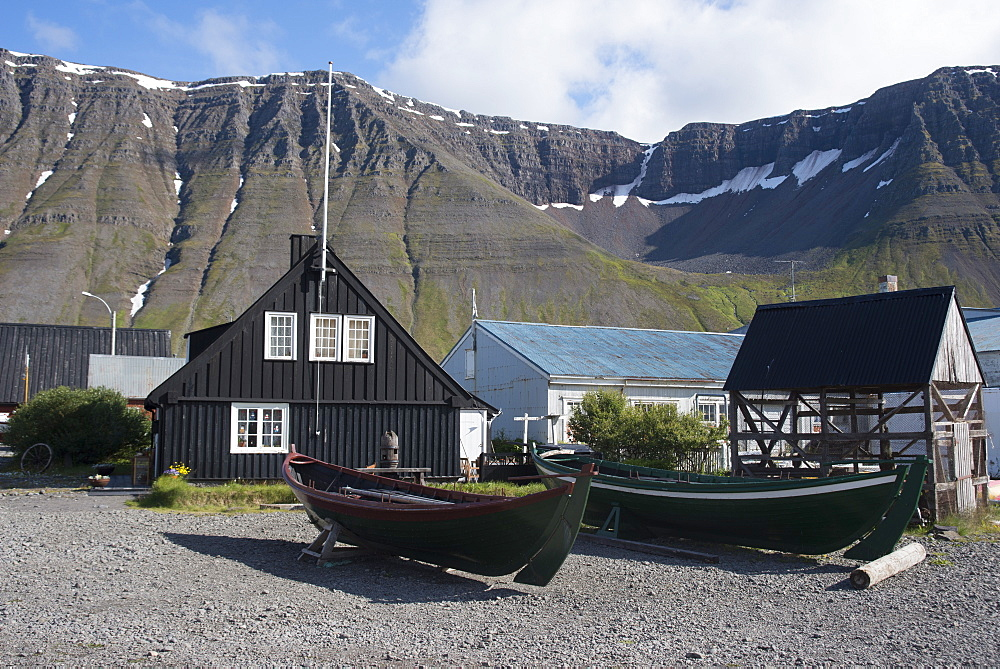 Old boats and houses at Isafjordur, West Fjords, Iceland, Polar Regions - 685-2628