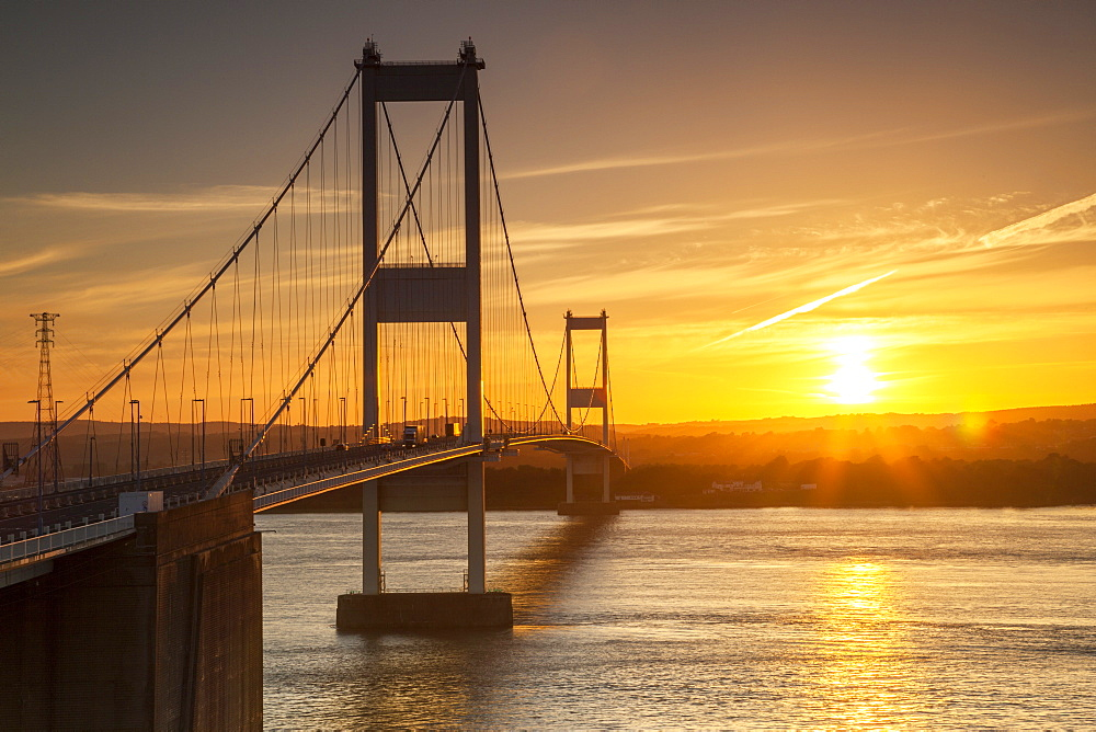 Old (First) Severn Bridge, Avon, England, United Kingdom, Europe - 696-780