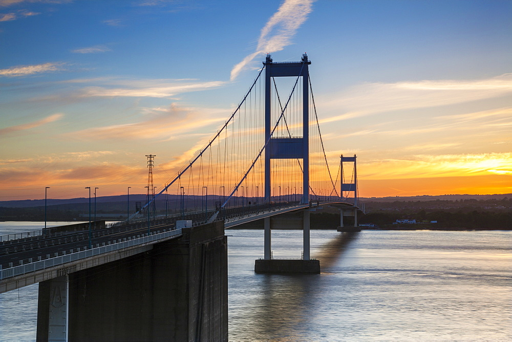 Old (First) Severn Bridge, Avon, England, United Kingdom, Europe - 696-781