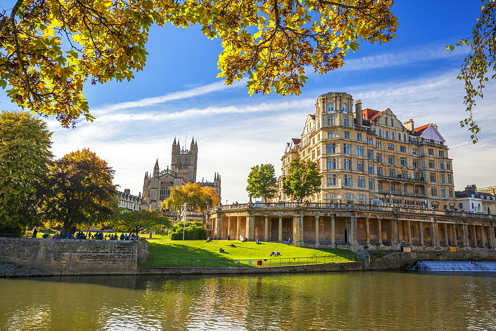 Bath Abbey, Bath, UNESCO World Heritage Site, Avon, Somerset, England, United Kingdom, Europe
