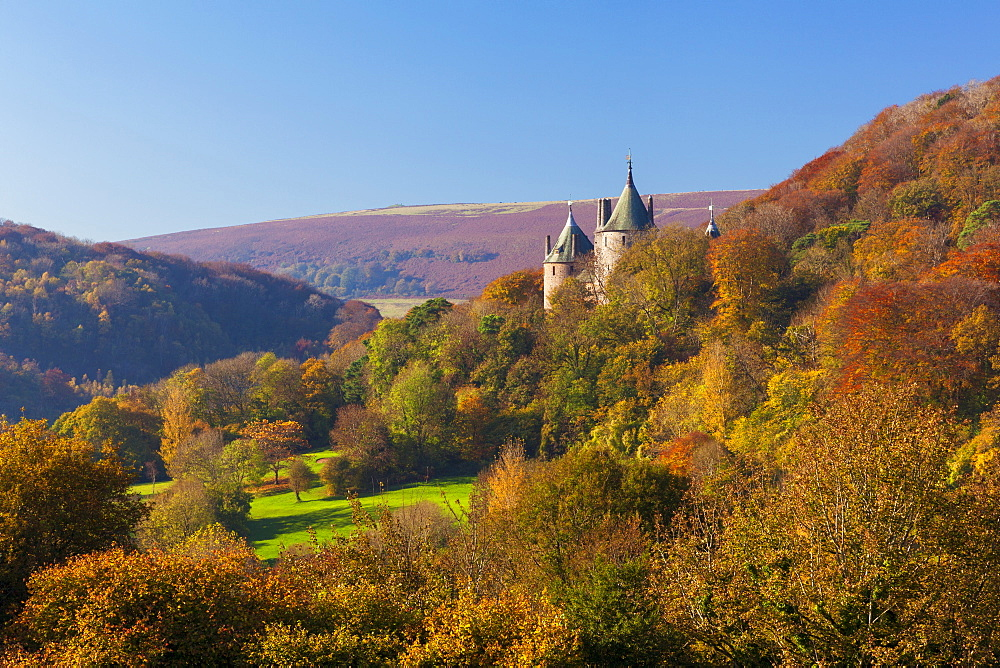 Castell Coch (Castle Coch) (The Red Castle), Tongwynlais, Cardiff, Wales, United Kingdom, Europe - 696-808