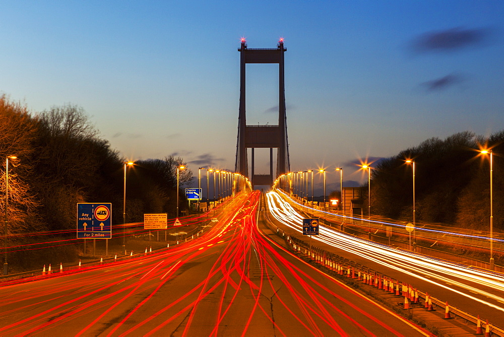 The First (Old) Severn Bridge, Avon, England, United Kingdom, Europe - 696-813