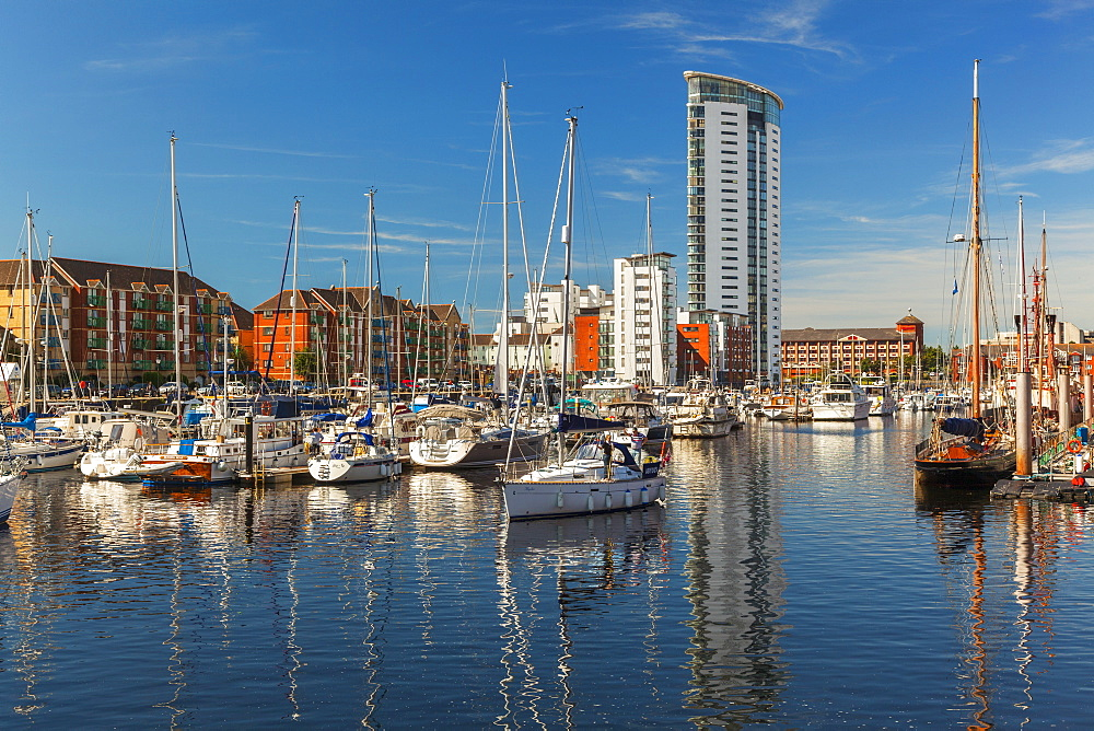 Swansea Marina, Swansea, Wales, United Kingdom, Europe - 696-815