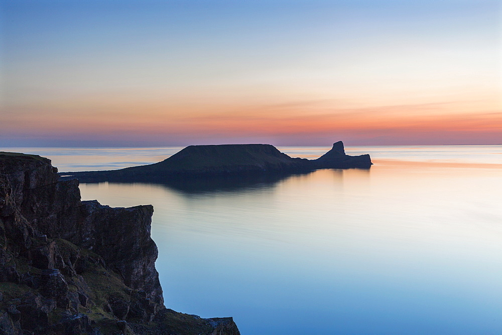 Worms Head, Rhossili Bay, Gower, Wales, United Kingdom, Europe - 696-820