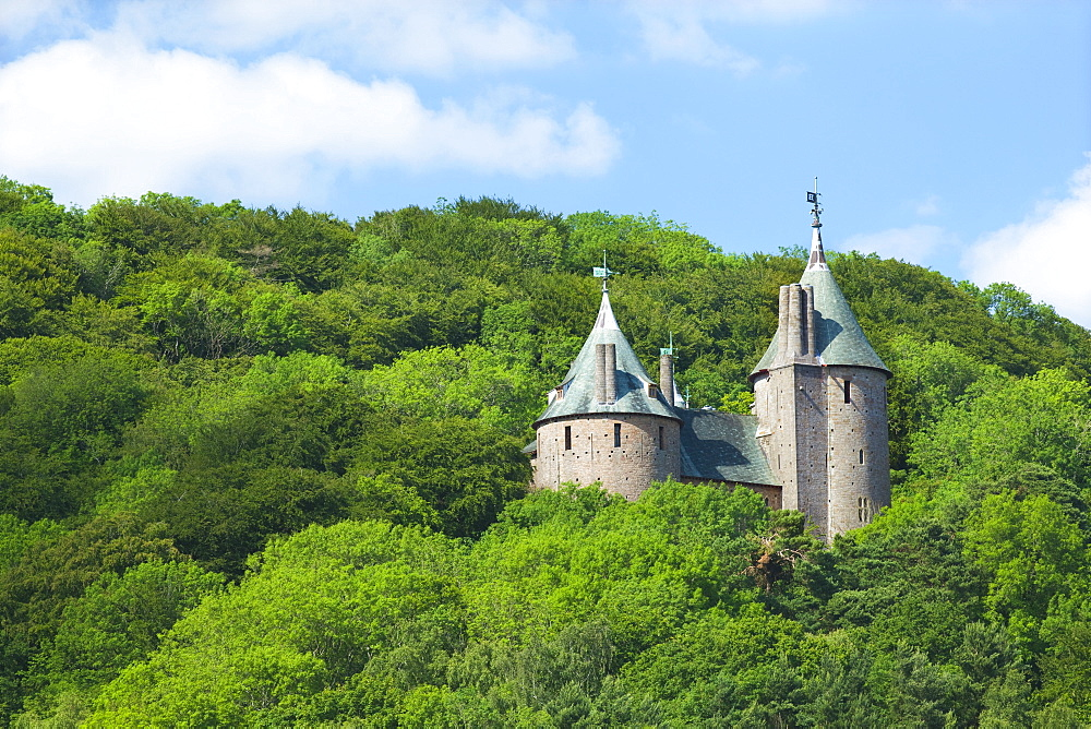 Castle Coch (Castell Coch) (The Red Castle), Tongwynlais, Cardiff, Wales, United Kingdom, Europe - 696-850