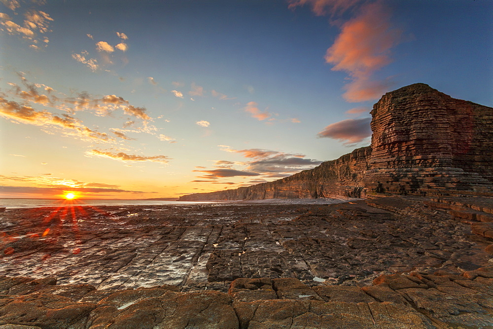 Nash Point, Glamorgan Heritage Coast, Wales, United Kingdom, Europe - 696-857