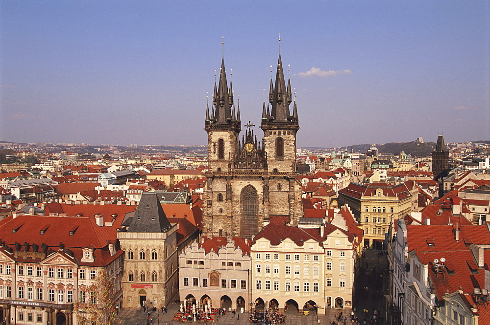 Czech Republic, Prague, Old Town Square, Church of Our Lady before Tyn