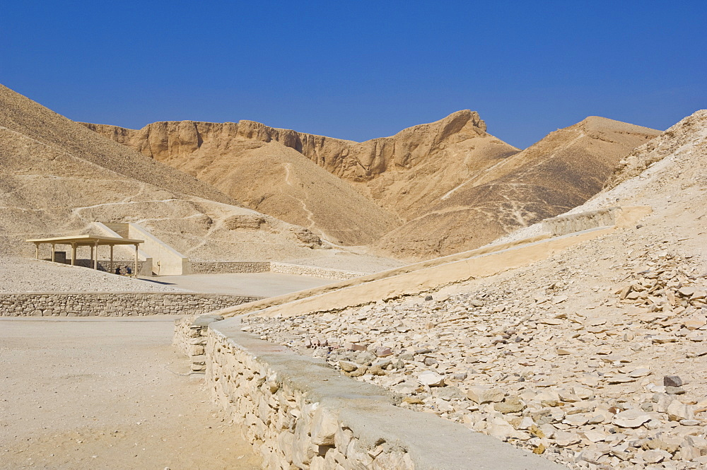 Entrance to the tomb of the pharaoh Rameses IV, Valley of the Kings on West bank of the river Nile, Thebes, UNESCO World Heritage Site, Egypt, North Africa, Africa