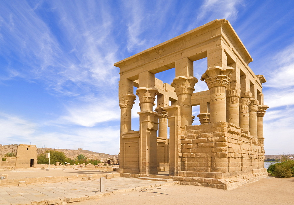 Kiosk of Trajan at the Temple of Isis, Philae, UNESCO World Heritage Site, near Aswan, Egypt, North Africa, Africa