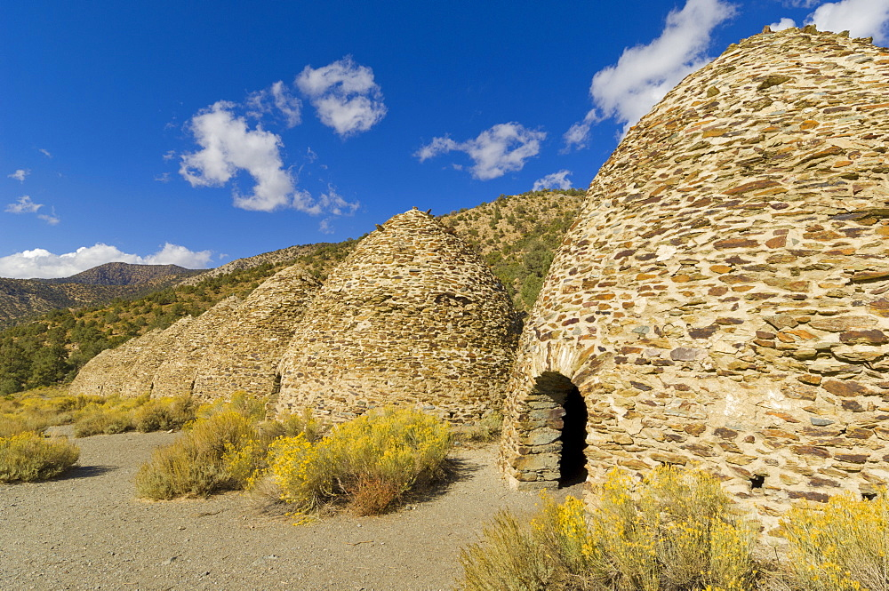 The Charcoal Kilns, bee-hive structure, designed by Swiss engineers, built by Chinese labourers in 1879, Panamint range, Emigrant Canyon Road, Death Valley National Park, California, United States of America, North America